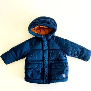 Zara Blue Puffy Jacket for a Baby Boy